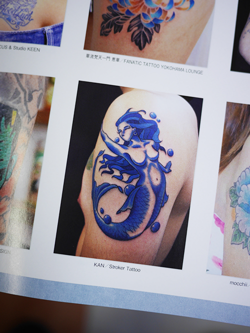 blue mermaid TATTOO