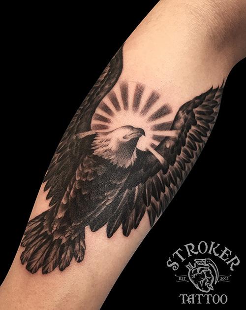 イーグル、白頭鷲のタトゥー