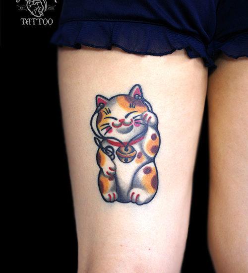 猫 音楽 タトゥー
