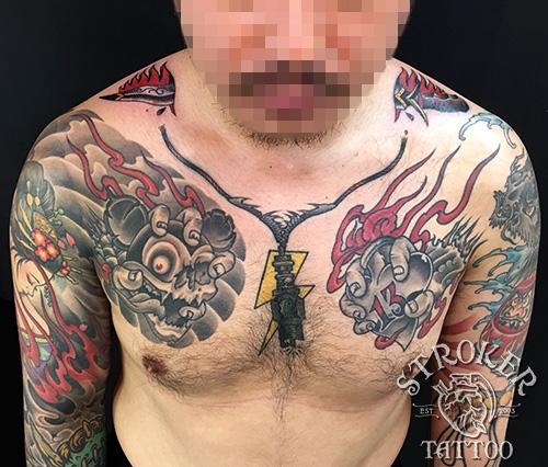 ダガー、剣、プラグのタトゥーtattoo