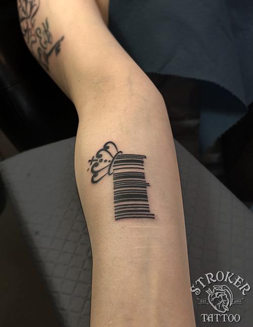 バーコードのタトゥー