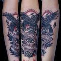 カラスタトゥー、肘下Tattoo