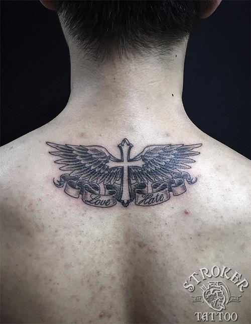 クロスと羽根