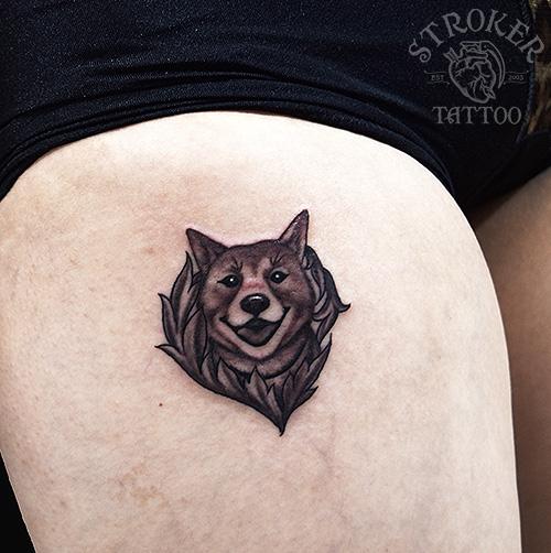 愛犬ワンポイントタトゥー