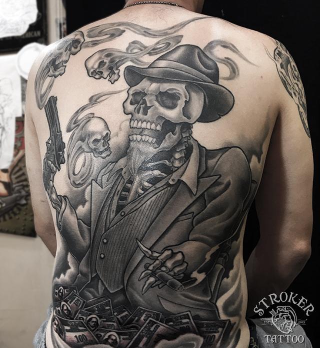 スカルタトゥー,skull tattoo