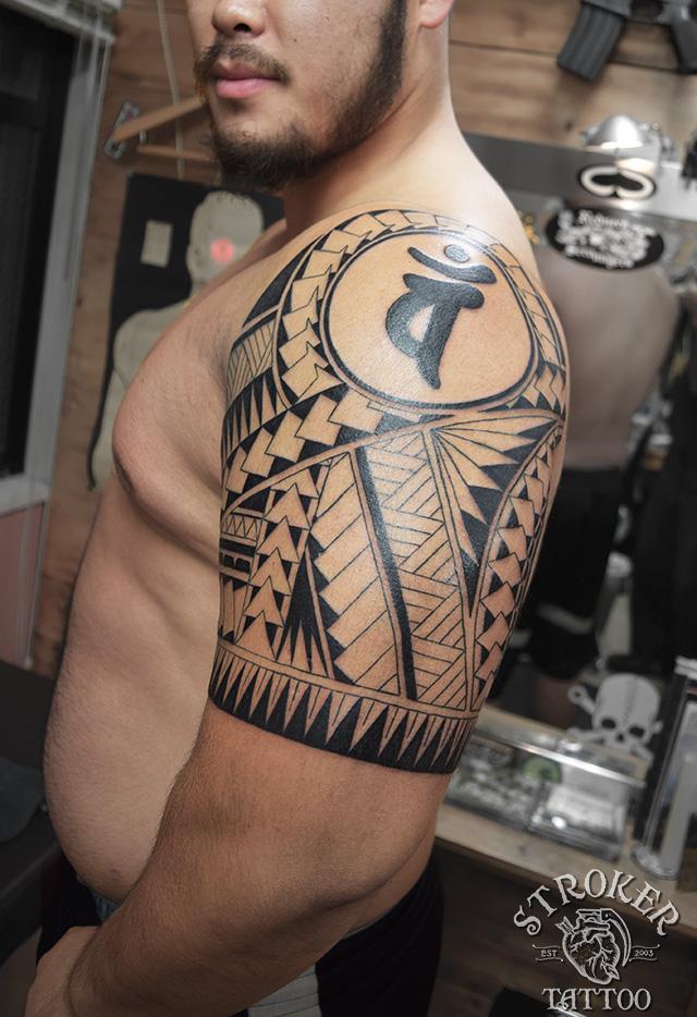 ポリネシアン ハワイアン トライバル 民族 タトゥー