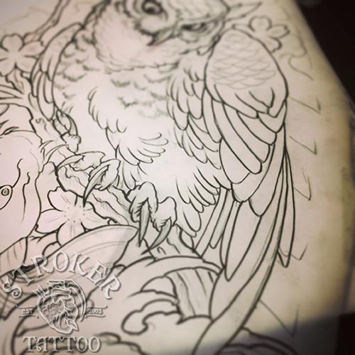 フクロウ刺青