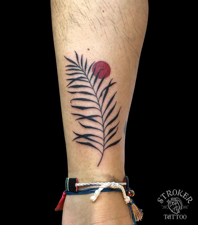 椰子の葉のタトゥー・刺青
