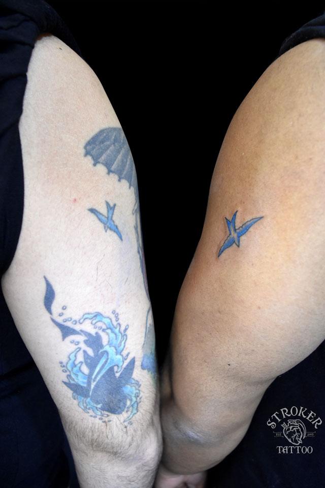 青い鳥タトゥー