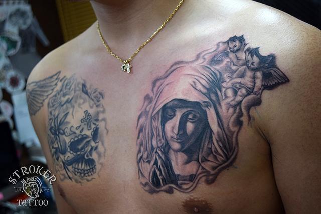 The_virjin_mary_tattoo_angel