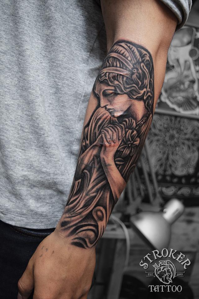 傷上 ケロイド いたずら彫り マリア リアル tattoo