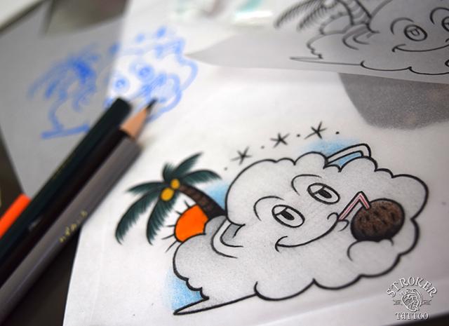 雲 タトゥー フラッシュ