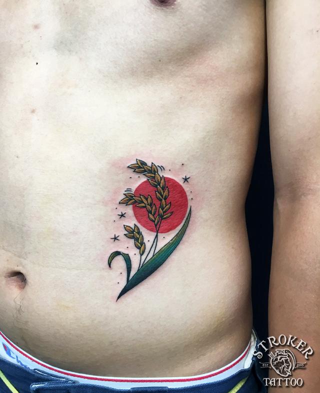 稲穂 ことわざのタトゥー