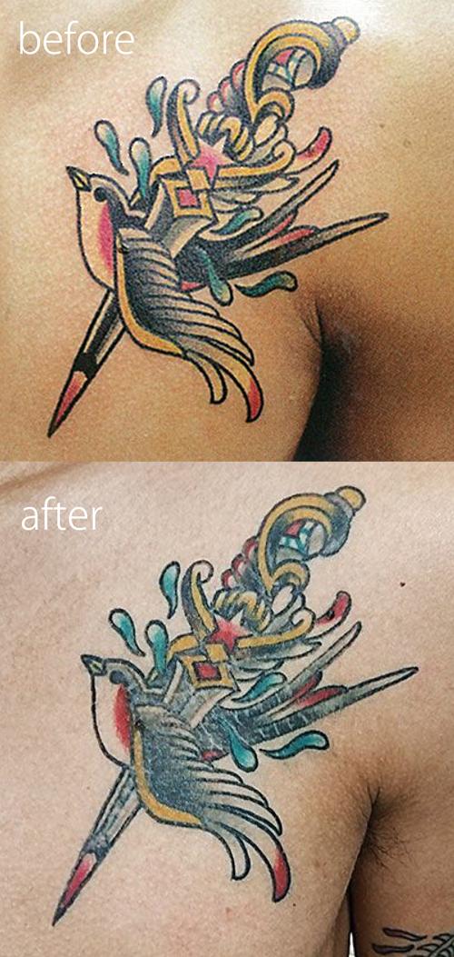tattoo healed sample