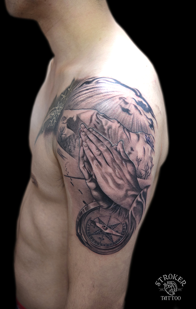 prayinghands tattoo