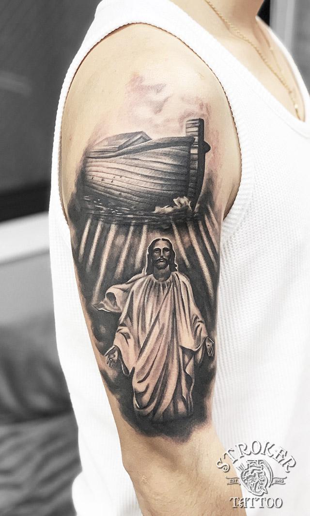 キリスト ノア 方舟 リアル 後光 タトゥー