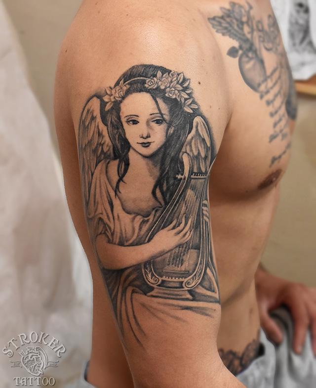 ハープ女神タトゥー