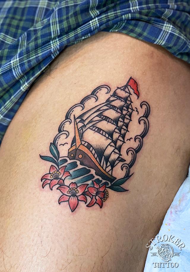 帆船タトゥー
