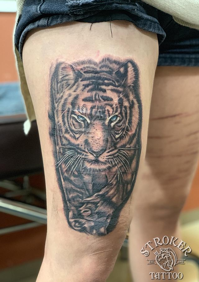 虎 自傷 タイガー リアル リスカ 傷跡 カバーアップ タトゥー