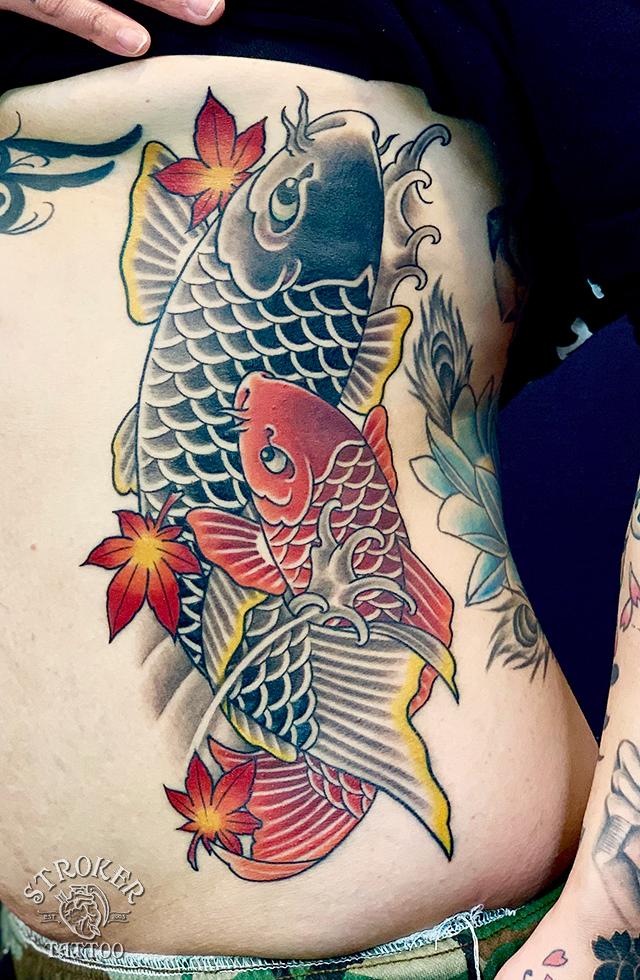 夫婦鯉刺青