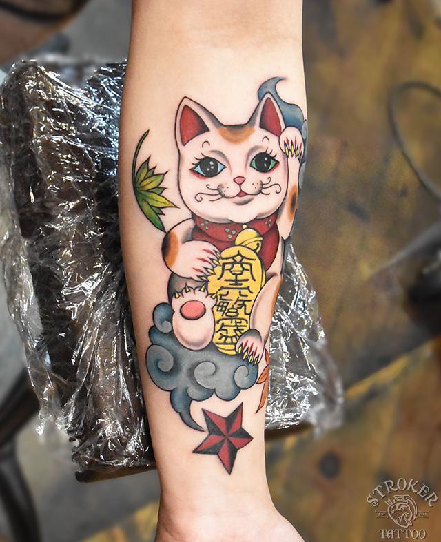 招き猫刺青