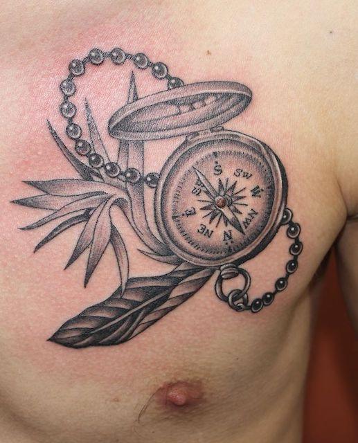 コンパス 方位磁石 ストレチア タトゥー tattoo