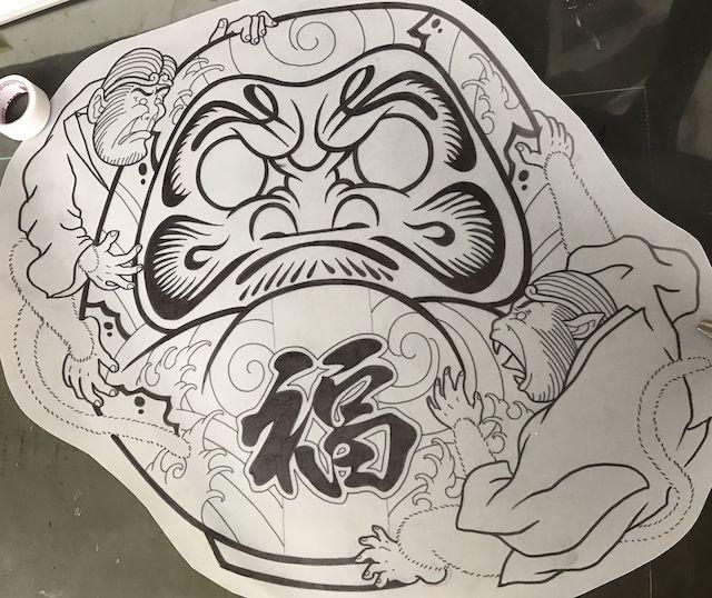 達磨 カスタムダルマ 孫悟空 タトゥー 刺青