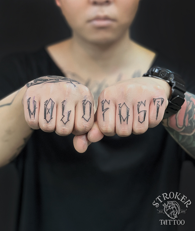 指タトゥー、HOLD&FAST