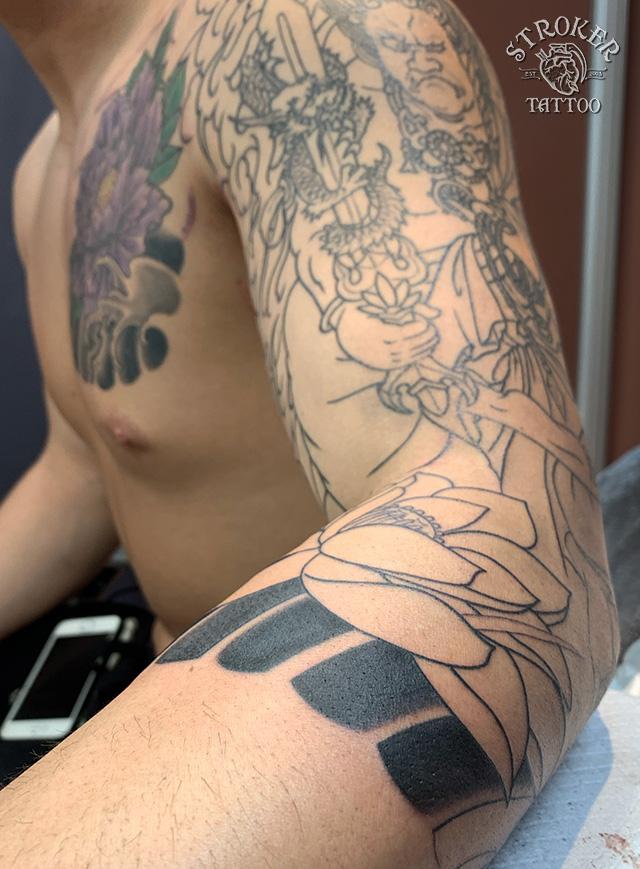 不動明王 和彫り刺青