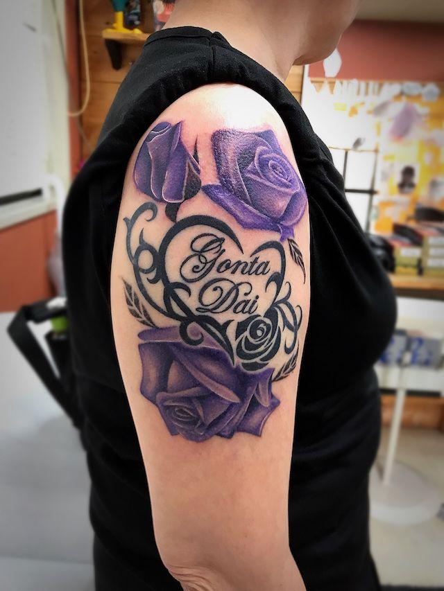 薔薇 バラ rose tattoo