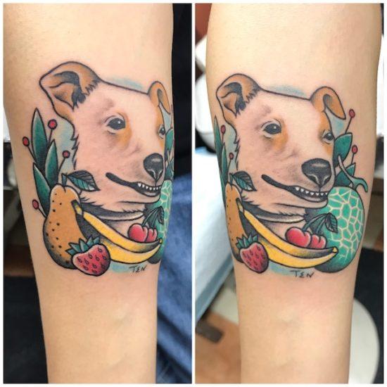 動物大好き バナナ 梨 苺 メロン チェリー アメリカンタトゥー