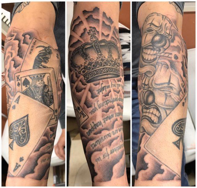 腕タトゥー 洋彫り