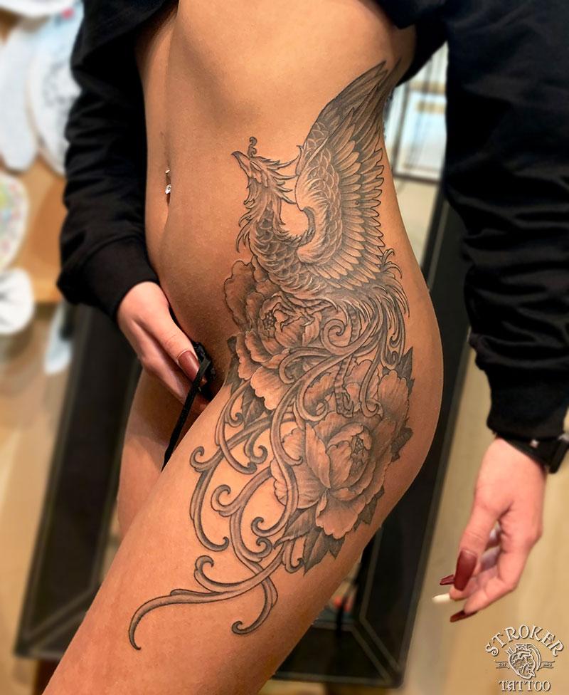 鳳凰女性刺青