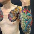 龍虎、袖九分、和彫り、刺青、タトゥー6
