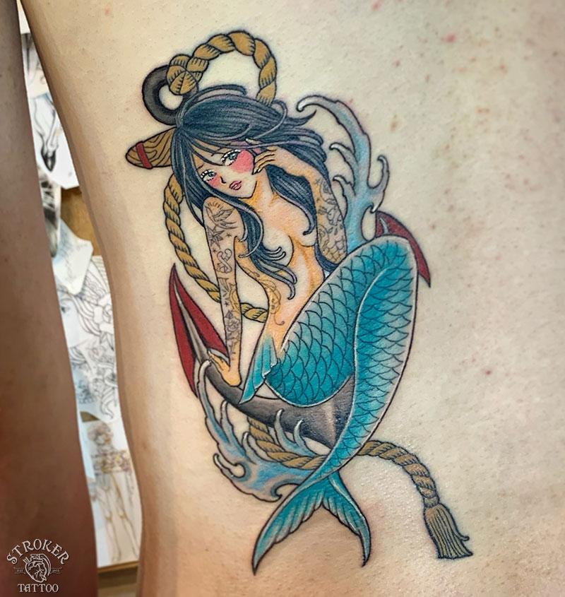 人魚タトゥー