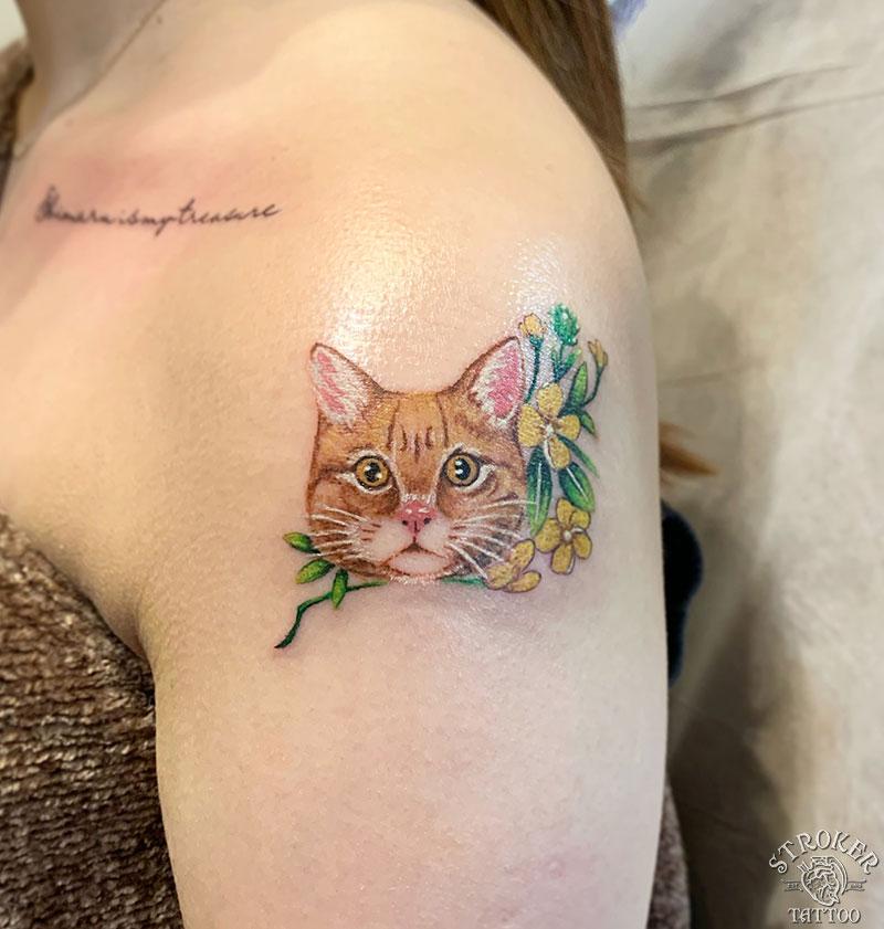 猫タトゥー