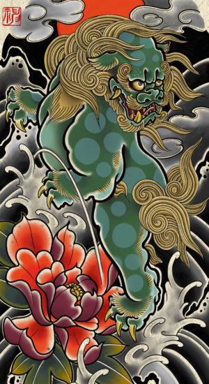2020年11月彫師タトゥー下絵待受画像