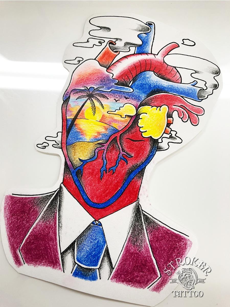 心臓頭の男
