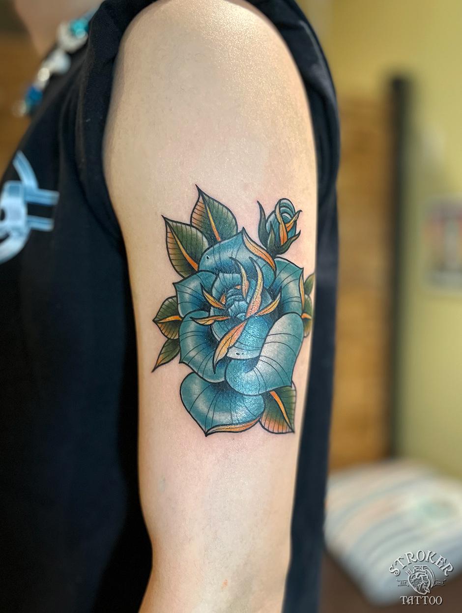 青薔薇タトゥー