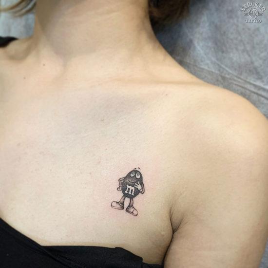 m&m'sのタトゥー