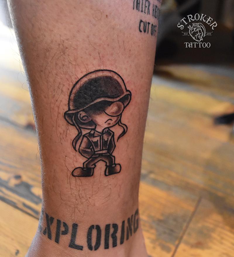 アメリカントラディショナル・海兵のタトゥー