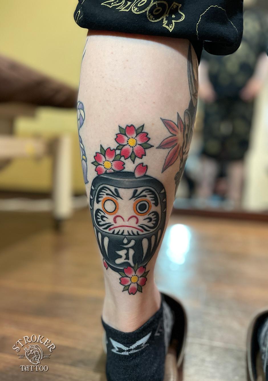 ダルマタトゥー、治り刺青