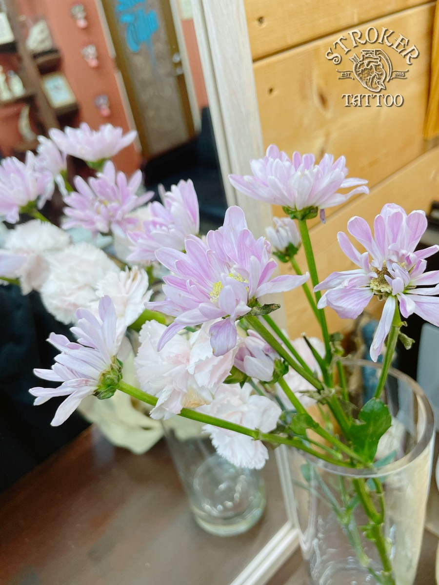 お客さまから頂いたお花