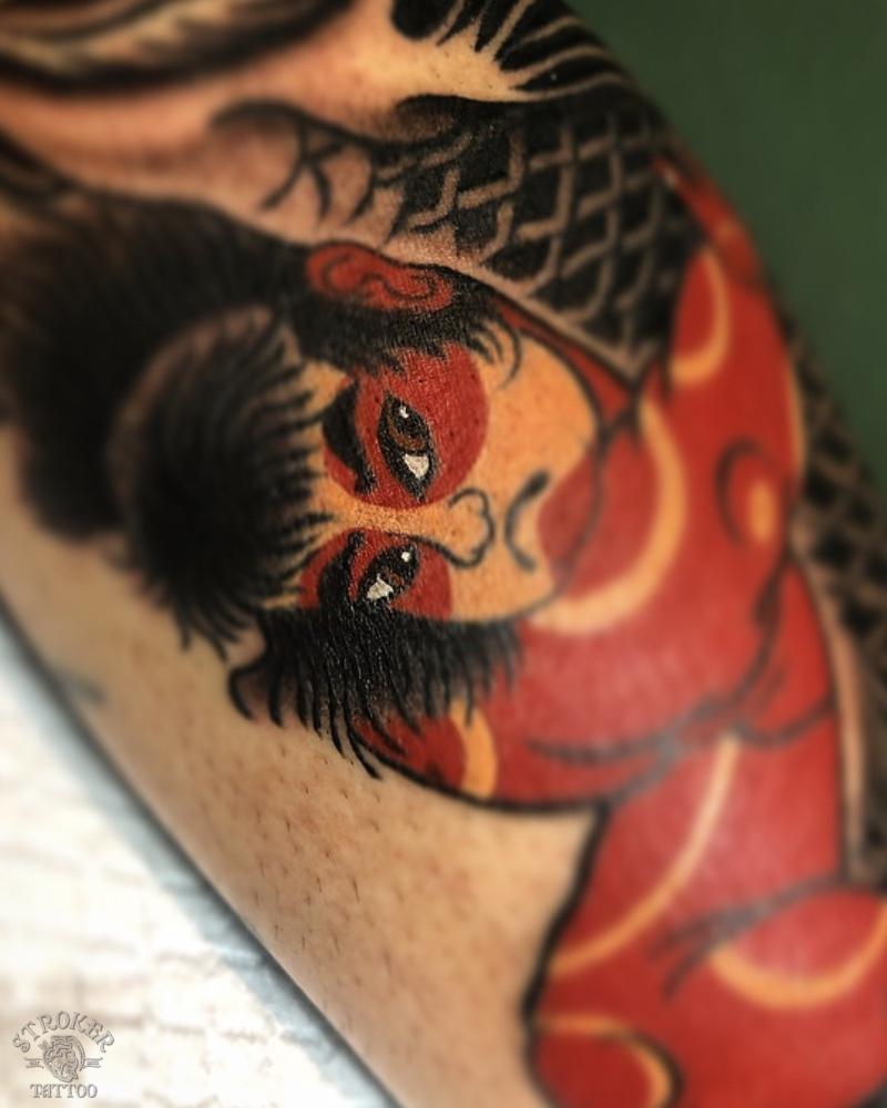 金太郎、抱き鯉、鯉、刺青、和彫り